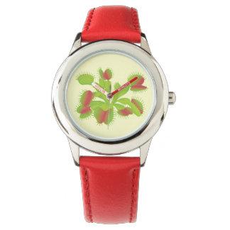 Relógio De Pulso Flytrap de Venus da planta carnívora