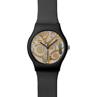 Relógio De Pulso Gustavo Klimt a árvore da arte Nouveau da vida