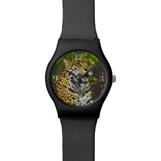 Relógio De Pulso Jaguar selvagem manchou o amante dos animais da