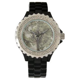 Relógio De Pulso Mente do cristal de rocha das mulheres sobre o