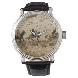 b55a5ce0fb9 Relógio De Pulso Montada ocidental velha dos vaqueiros