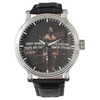 Relógio De Pulso Motivação do treinamento da força - armadilhas -