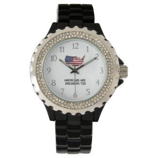 Relógio De Pulso Os americanos do trunfo são sonhadores constroem