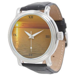 Relógio De Pulso Por do sol sueco das ilhas