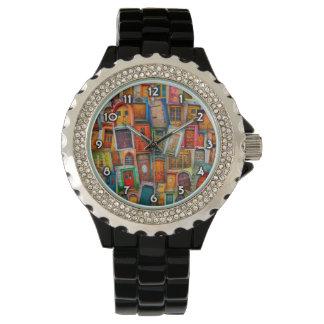 Relógio De Pulso Portas do branco do mundo numerado