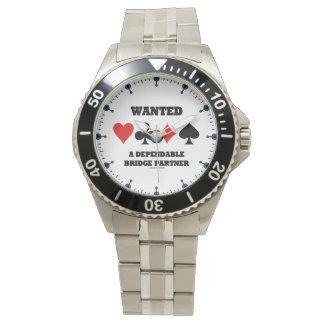 Relógio De Pulso Quis ternos seguros de um cartão do sócio quatro