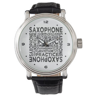 Relógio De Pulso Tipografia do saxofone