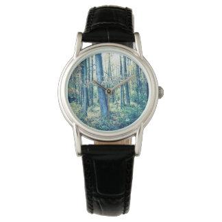 Relógio De Pulso Transfira arquivos pela rede sua foto, floresta