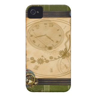 Relógio de SteamPunk do vintage Capa iPhone 4