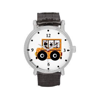 Relógio do auto escolar do joaninha do professor