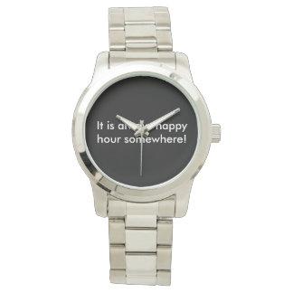 Relógio do happy hour: Estilo de prata do