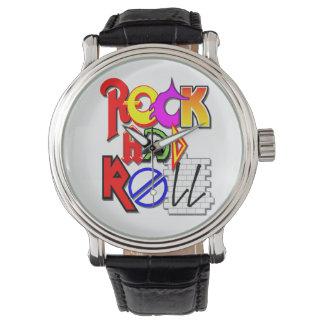 Relógio do rock and roll (branco)
