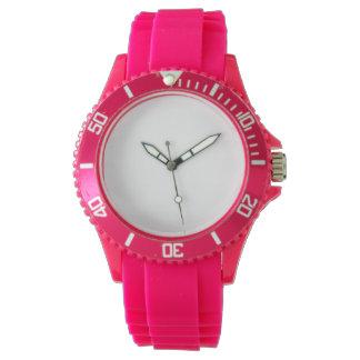 Relógio do silicone do rosa do esporte das