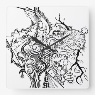 relógio doodle relógios de pendurar