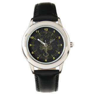 Relógio Escorpião dourada