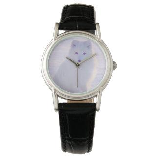 Relógio Foto ártica elegante elegante do Fox do inverno