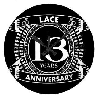 Relógio Grande 13o laço do aniversário de casamento