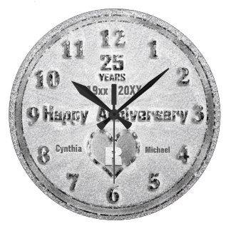 Relógio Grande 25o Partido do brilho do aniversário de casamento