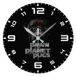Relógio Grande Alvorecer do planeta dos Pugs