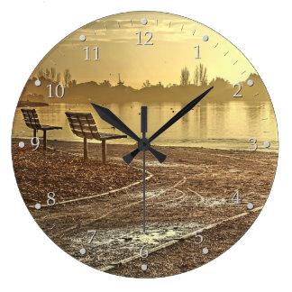 Relógio Grande Bancos no nascer do sol