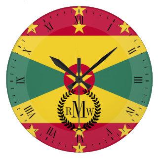 Relógio Grande Bandeira de Grenada