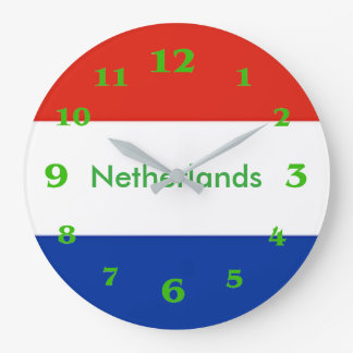 Relógio Grande Bandeira holandesa para o