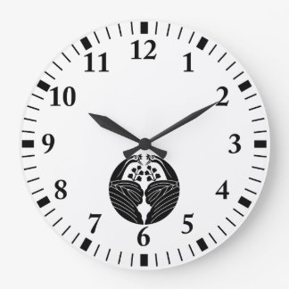 Relógio Grande Bisected guindaste-deu forma a paulownias
