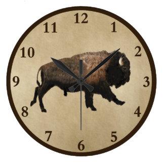 Relógio Grande Bisonte de galope no papel velho