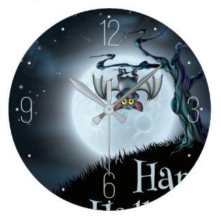 Relógio Grande Cair do bastão da paisagem do Dia das Bruxas na