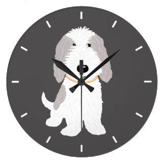 Relógio Grande Cão bonito PBGV dos desenhos animados