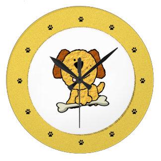 Relógio Grande Cão com um osso