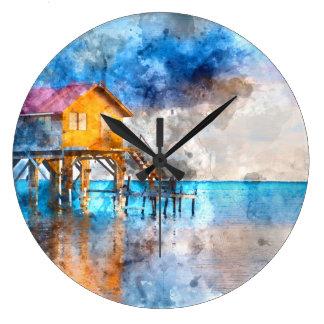Relógio Grande Casa no oceano no Ambergris Caye Belize