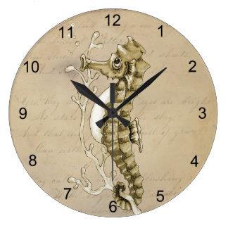 Relógio Grande Cavalo marinho do vintage