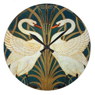 Relógio Grande Cisne do guindaste de Walter, precipitação e arte