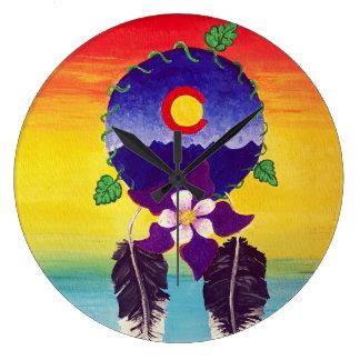 Relógio Grande Colorado colorido