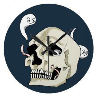 Relógio Grande Crânio assustador da esteira rolante