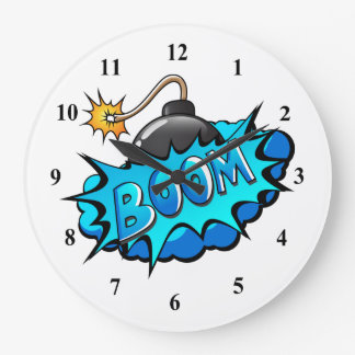 Relógio Grande Crescimento cómico da bomba do estilo do pop art!