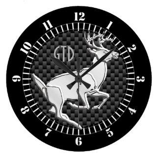 Relógio Grande Cromo como monograma Running do impressão do