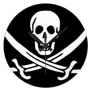 """Relógio Grande Da """"pulso de disparo da bandeira de pirata de Jack"""