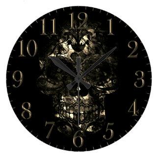Relógio Grande Dia do design inoperante da máscara de morte do