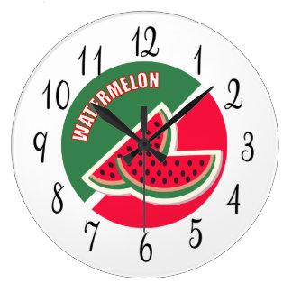 Relógio Grande Dois cortados da melancia
