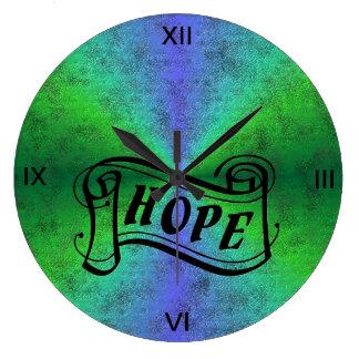 Relógio Grande Espere no arco-íris no optik do couro da pele do