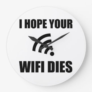 Relógio Grande Espere seus dados de Wifi
