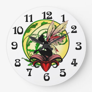 Relógio Grande Fada da sombra do lírio