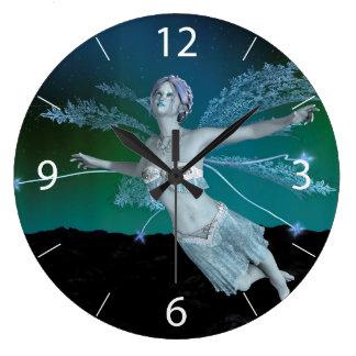 Relógio Grande Fada do inverno