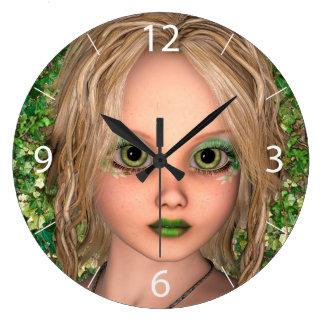 Relógio Grande Fada pequena