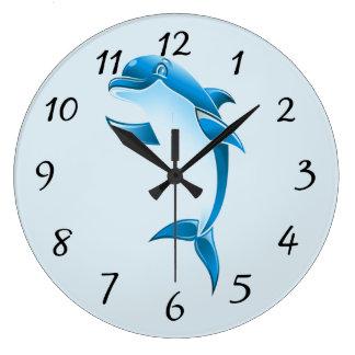 Relógio Grande Golfinho dos desenhos animados