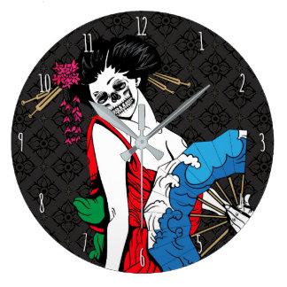 Relógio Grande Gueixa do zombi
