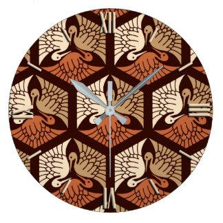 Relógio Grande Guindastes, Tan, oxidação & castanho chocolate