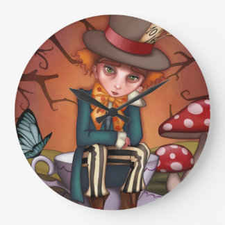 Relógio Grande Hatter louco